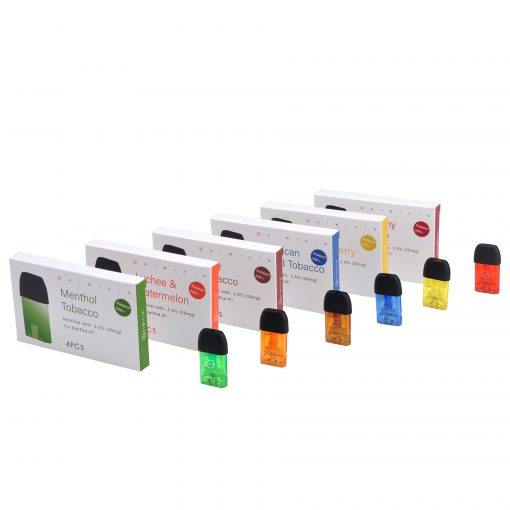 Colourful Vape Liquid Disposable Cartridges