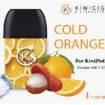 Cold orange disposable vape pods