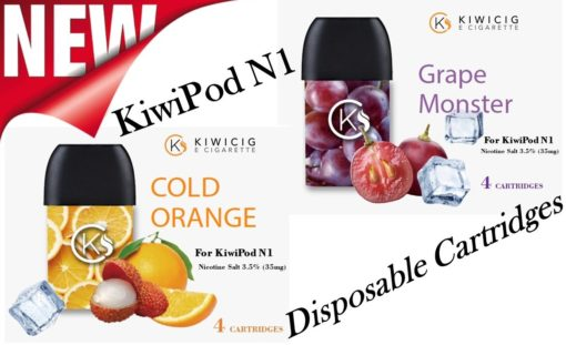 New disposable cartridge's of cold orange and grape most flavors