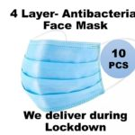 10 pieces face mask available for delivery during lockdown